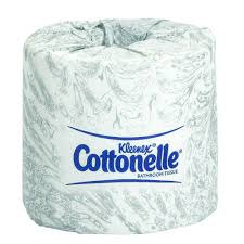 wrapped toilet paper kleenex cottonelle white bathroom tissue 2 ply of 60 17713