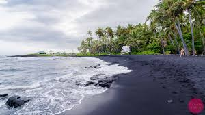 Black Sand Beaches by Black Sand Beach Hawaii A Beach Made Of Tiny Pieces Of Lava