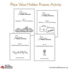 place value mystery number place value picture coloring worksheets printables