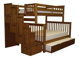 Bunk Beds Twin Over Full Stairway Expresso Trundle - Trundle bunk beds
