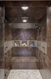 Showers Without Glass Doors Bathroom Charming Walk In Showers Without Doors With Black Tile