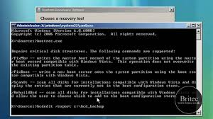 how to use the bootrec exe tool to repair startup issues in