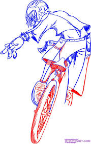how to draw a bmx bike step by step sports pop culture free