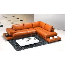 canapé d angle orange canapé d angle en cuir design