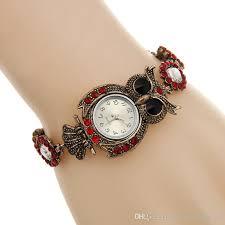 bracelet design watches images Vintage quartz watches luxury brand owl fashion women bracelet jpg