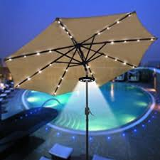 Patio Led Lights Gemmy Patio Umbrella Solar Led Lights