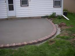 Concrete Patio With Pavers Stamped Concrete Decorative Concrete Work Appleton Concrete