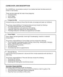 Caregiver Resume Example by Surprising Caregiver Duties Resume 22 In Professional Resume