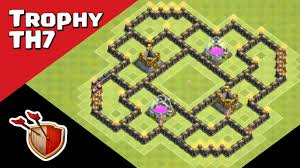 layout design th7 12 best town hall th7 hybrid bases 2017 3 air defenses