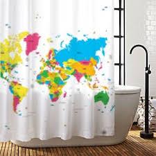 Shower Curtain World Map Amazon Com Amazing Shower Curtains 2017 Best Quality World Map