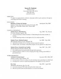 college student resume sle objective lpn resume simple sle with no work experience transvall pertaining