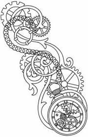 gears clock tattoo design page photos pictures and sketches
