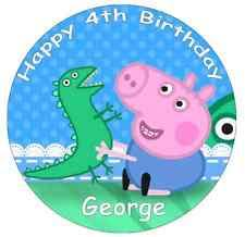 George Pig Cake Decorations Peppa Pig Cake Toppers Ebay