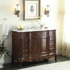Brown Bathroom Cabinets by Lovely Antique Looking Bathroom Cabinets Using Dark Brown