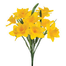 artificial daffodils bunch 14 spring flowers 40cm