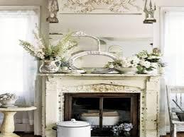 vintage home decorating ideas stone fireplace mantel decorating