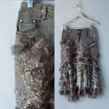 Shabby Chic Skirts by Mori Lace Wrap Skirt Shabby Chic Upcycled Recycled Clothing
