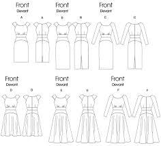 dress pattern without darts v8685 misses empire waist dresses sewing pattern vogue patterns