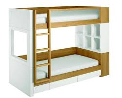 Two Tone White And Brown Wooden Ikea Loft Bed With Ladder Also - Ikea bunk bed reviews