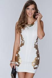 white party dresses gold and white party dress naf dresses