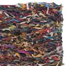 Leather Shag Rug Rugs Colorful Leather Shag Rug Design Idea