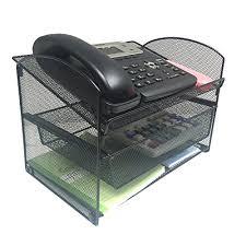 wire mesh desk organizer vanra metal mesh desktop organizer telephone stand phone stand file