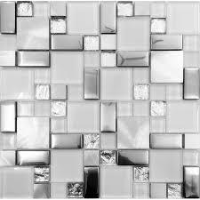 bathroom glass tile ideas silver metal and glass tile backsplash ideas bathroom brushed