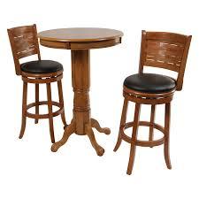 oval pub table set boraam oak sumatra 3 pc pub table set hayneedle incredible and