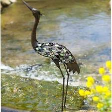 metal heron garden ornaments sculptures statues ebay