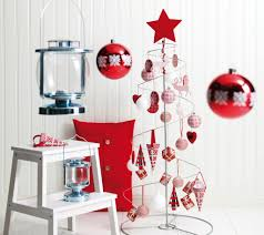 home decor red decorations red accent in white christmas decoration alongside