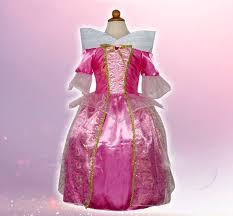 sleeping beauty costumes princess aurora kids party dress