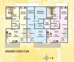 aadinath tarangan row house type 2 ground floor plan
