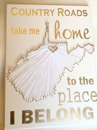 West Virginia travel packing list images West virginia state string art morgantown white and gold west jpg