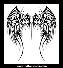 tribal angel wing tattoos designs
