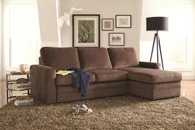 Pull Out Sectional Sofa Coaster Gus Sectional Sofa With Tufts Storage And Pull Out Bed