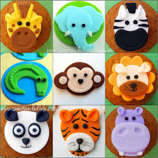 safari cake toppers so many adorable fondant cupcake toppers cake cupcake and