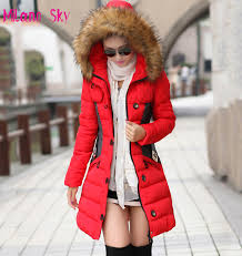 brand new winter jacket women parka coat abrigos y chaquetas mujer invierno 2015 big fur collar jpg