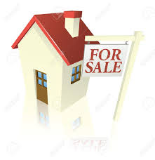 illustration of a house for sale with for sale sign royalty free