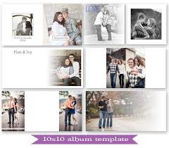 10x10 photo book psd 10x10 guest book album template photoshop template for