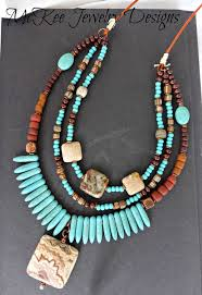 leather necklace turquoise stone images Best 80 mckee handmade jewelry designs images jpg