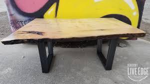 yellow wood coffee table wood coffee table industrial live edge coffee table ambrosia maple