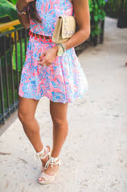 lilly pulitzer crop top and skirt set a southern drawl