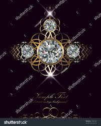luxury background diamonds gold ornaments vector stock vector
