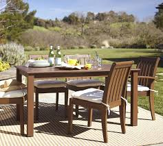 Patio Dining Furniture Chatham Rectangular Fixed Dining Table U0026 Chair Set Dark Honey