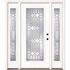 full glass entry door feather river doors 67 5 in x81 625 in mission pointe zinc full