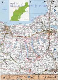 Road Map Of New York West New York State Map
