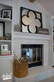 painted brick fireplace modern cpmpublishingcom