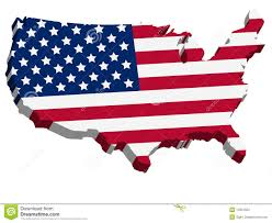Map Us Usa by 3d Usa Map With Us Flag Stock Photos Image 14301953