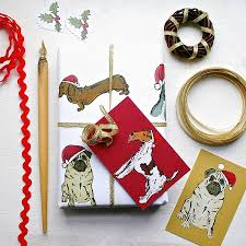 dachshund christmas wrapping paper dog christmas wrapping paper gift set by