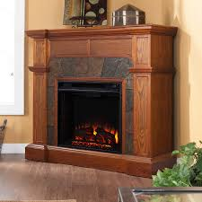 shop boston loft furnishings 45 5 in w 4700 btu mission oak wood